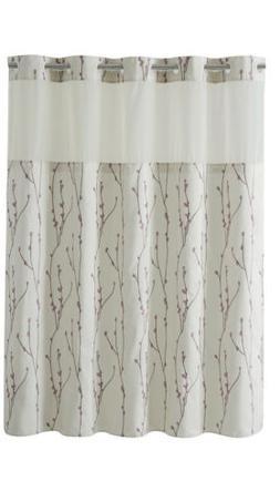 Hookless RBH40MY082 Cherry Bloom Shower Curtain with PEVA li