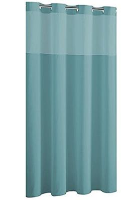 Hookless RBH40MY226 Plain Weave Shower Curtain with PEVA lin