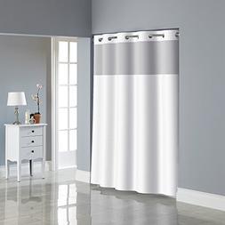 Hookless RBH53MY306 Herringbone Shower Curtain with PEVA lin