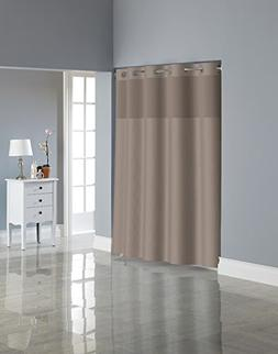 Hookless RBH80MY221 Fabric Shower Curtain with Built in PEVA