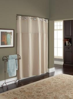 Hookless RBH82MY418 Fabric Shower Curtain with Built in Line