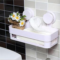 LiPing Rectangle Suction Cup Bathroom Shelves For Toiletries
