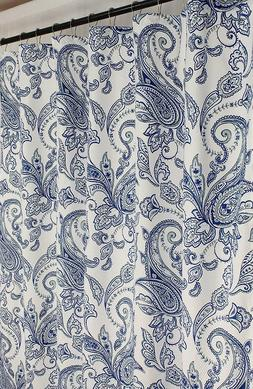 Regal Home Decorative Fabric Shower Curtain: Paisley Floral