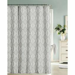 Dainty Home Romance Printed Fabric with Lurex Shower Curtain