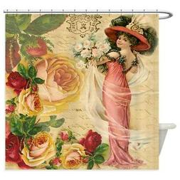CafePress Rose Lady Decorative Fabric Shower Curtain