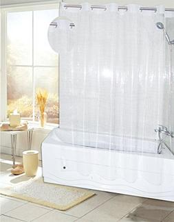 Royal Bath Easy On  PEVA Non-Toxic Shower Curtain Liner  wit