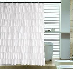 Ameritex Ruffle Shower Curtain Fabric | Soft Polyester, Deco