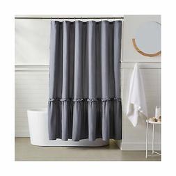 AmazonBasics Ruffled Hem Shower Curtain - Grey