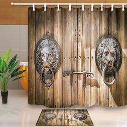 KOTOM Rustic Wood Decor, Antique Wooden Door Knocker Shaped