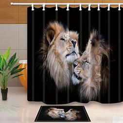 KOTOM Safari Animals Decor, Lions Fall in Love Nature Image