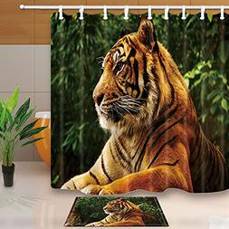 KOTOM Safari Wildlife Decor, Tiger in the Tropical Jungle, 6
