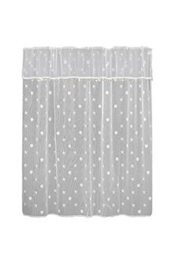 Heritage Lace Sand Shell Shower Curtain and Valance Set, 72""