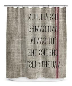 KAVKA Designs Santa's List Shower Curtain,  - TRADITIONS Col