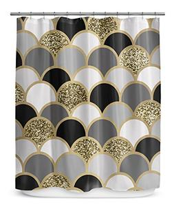 KAVKA DESIGNS Scales Shower Curtain, , Size: 70x72 -