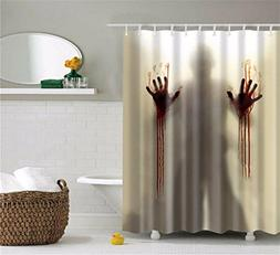 ISEAREX Scary Horrific Zombie Man with bloody Hands Polyeste