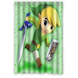 LIBIN Scottshop Custom The Legend of Zelda Shower Curtain Wa