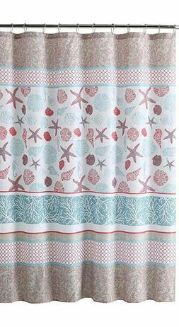 Victoria Classics Sea Shell Fabric Shower Curtain 72x 72 Har