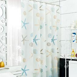 "Sea Shell Starfish Shower Curtain 70.8""x70.8"" Bathroom Water"