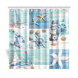 InterestPrint Sea Theme Sandy Beach Home Decor, Wooden Starf