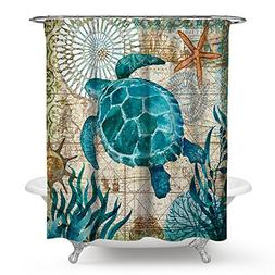 Ecomic Sea turtle Ocean Animal Landscape Shower Curtains Wat