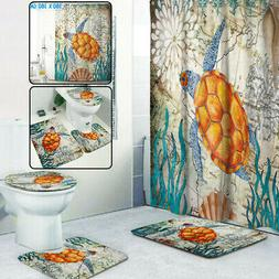 Sea Turtles Waterproof Non-Slip Bathroom Shower Curtain Toil