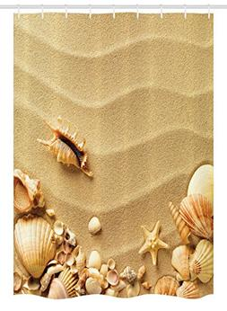 Ambesonne Seashells Stall Shower Curtain by, Seashells on Sa