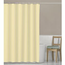 Maytex Seersucker Stripe Fabric Shower Curtain, Yellow, 70 X