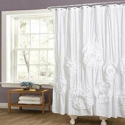 Lush Decor Serena Shower Curtain 72 by 72-Inch White