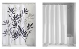 InterDesign Set of 2: Shower Curtain & Mildew-Free Shower Cu