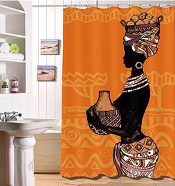 LB Sexy African American Woman Bath Curtain by, African Blac