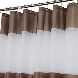 Eforcurtain Shabby Chic Anti-Water Shower Curtains with Whit
