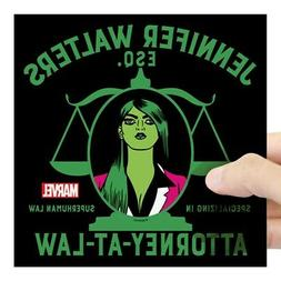 CafePress - She-Hulk Attorney-At-Law Shower Curtain Sticker