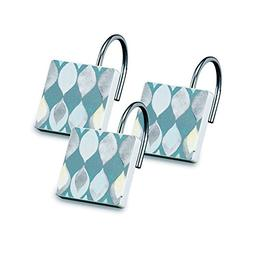 Shell Rummel Designed Sea Glass Shower Hooks, 12-Pack, Teal