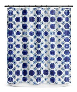KAVKA DESIGNS Shibori Circle Shower Curtain,  - SALTWATER Co