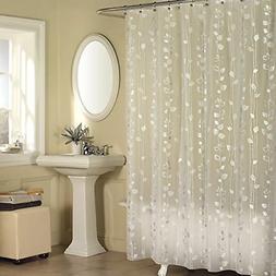 Shower Curtain 100 Percent Peva Ease Care Clean Silver Bathr