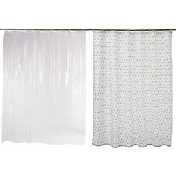 AmazonBasics Shower Curtain with Hooks  and Shower Curtain L
