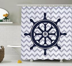 Devin Edie Buck Shower Curtain with Hooks DIY Customized Wat
