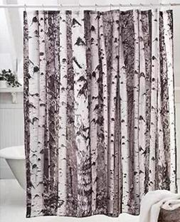 Moldiy Shower Curtain, 72 x 72 inches,Birch Pattern, 100% Po