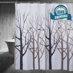 Moldiy Shower Curtain Tree Design Forest, Fabric Shower Curt