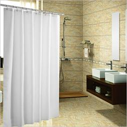 Meccion Shower Curtain, Resistant Fabric Shower Curtain Lock