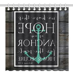 Wknoon 72 x 72 Inch Shower Curtain, Bible Verse Quotes We Ha