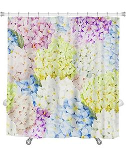 Gear New Shower Curtain, Image Of Hydrangea Watercolor Flowe