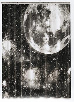 Peva Shower Curtain - Moon Black - 70 X 72 inches - Washable