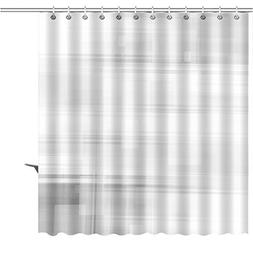 MuaToo Shower Curtain abstract gray lines square background