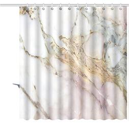 MuaToo Shower Curtain abstract white marble texture backgrou