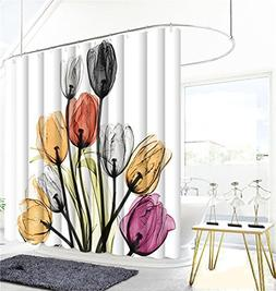 Shower Curtain Aesthete Flowers Polyester Fabric Curtains Fo