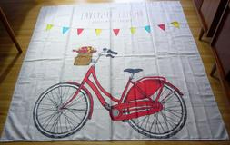 Shower Curtain Amsterdam RED Bicycle Cycling tour tulips Bat