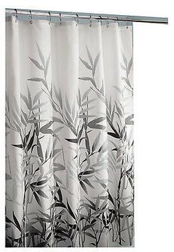 Shower Curtain, Anzu, White/Grey Polyester, 72 x 72-In.