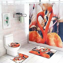 Shower Curtain Bath Set With Rugs Bathroom Sets And Accessor