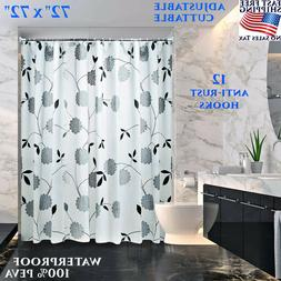 "SHOWER CURTAIN BATHROOM DECOR LINER 72"" X 96"" WATER REPEL LE"